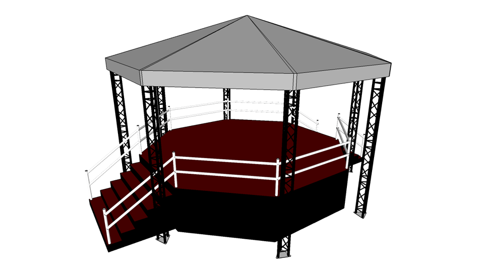 Bandstand 1 with height extension