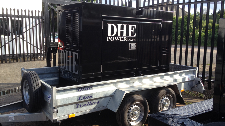 Tyne and Wear Stage Hire 60KVA Ultra Silent Road Towable Diesel Generator